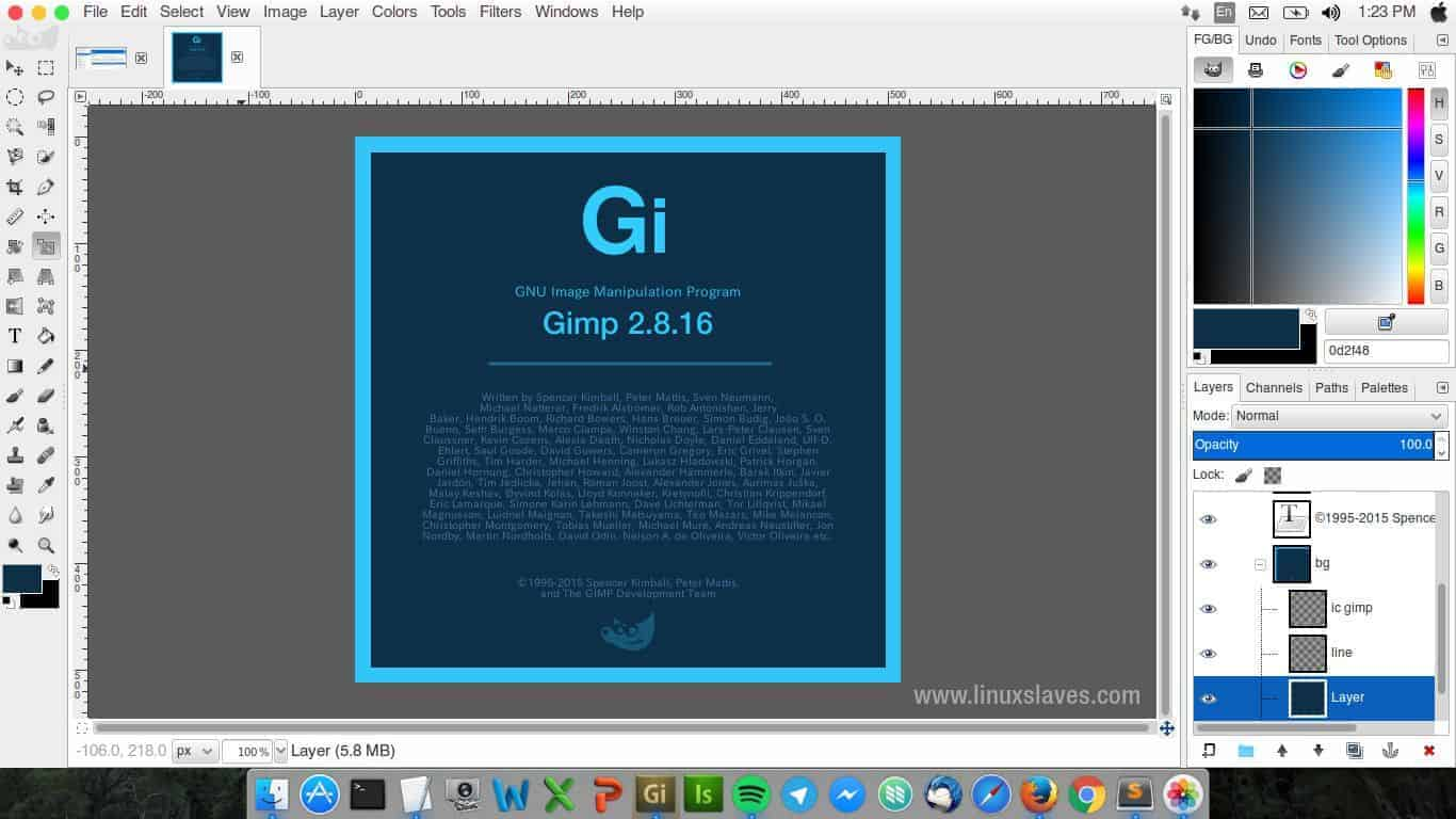 thème pour faire fonctionner the Gimp comme Photoshop