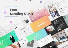 Un ui kit graphique gratuit pour vos design one page