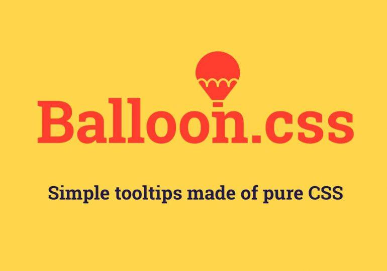 Balloon.css : des tooltips en pur css pour vos éléments html