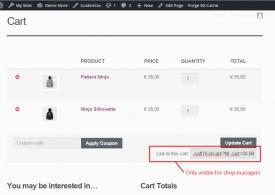 Créer des liens directement vers un panier déjà rempli de WooCommerce : Cart links