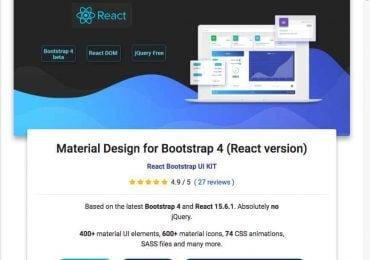 Material design Bootstrap avec React.js, Vue.js ou Angular.js