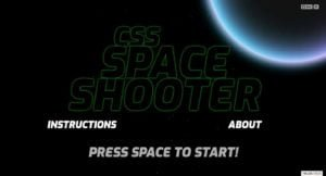 Un jeu space shooter en pur css