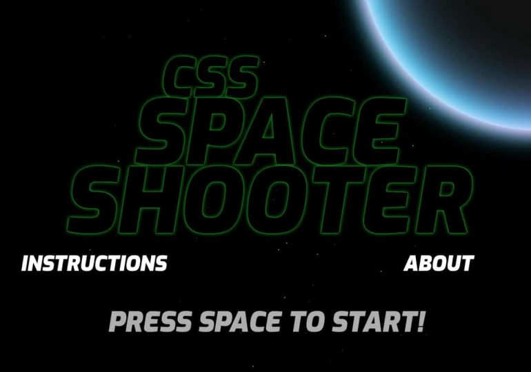 Un jeu space shooter en pur css