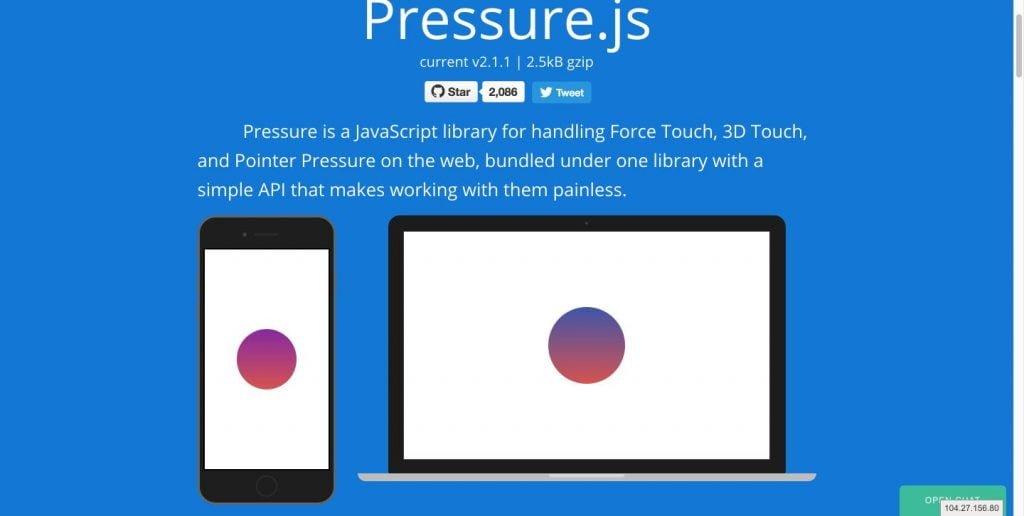 Pressure js
