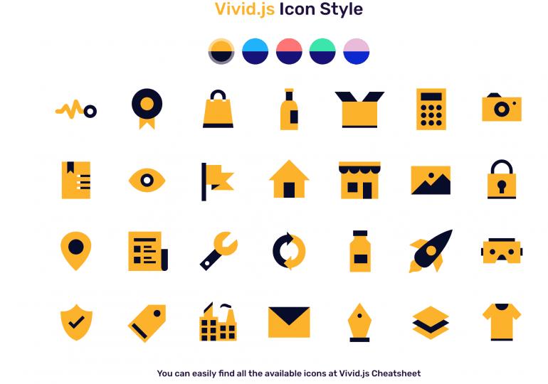 Vivid.js : des icones svg personnalisées par des attributs html5