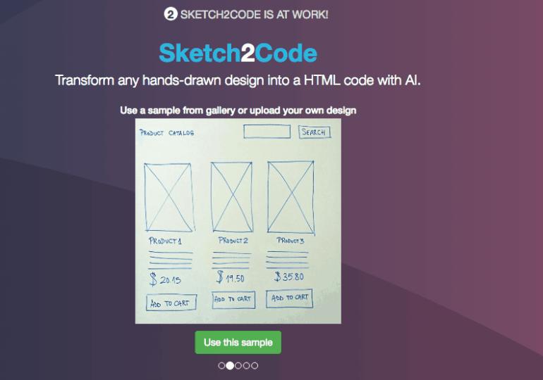 Construisez automatiquement une page HTML grâce à un croquis de votre interface !