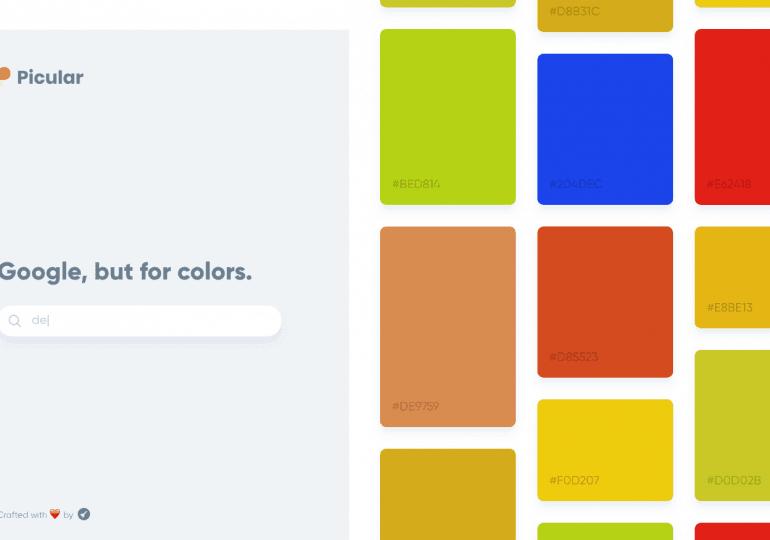 Un moteur de recherche pour trouver la bonne couleur : Picular