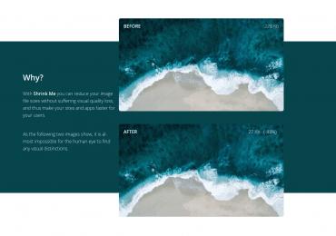 un outil pour compresser votre image Jpeg en ligne : shrinkme.app