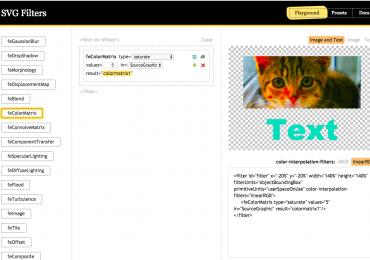 Découvrez les filtres SVG