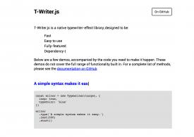 T-writer : effet texte tapé à la machine