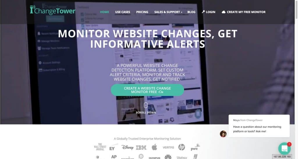 ChangeTower Monitor Website Changes Track Differences Get Alerts Free