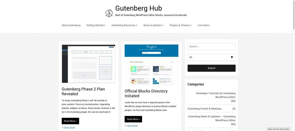 Gutenberg Hub Best of Gutenberg blocks resources tutorials