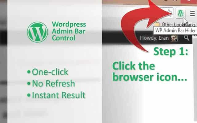 Comment cacher facilement la barre admin WordPress sur Chrome