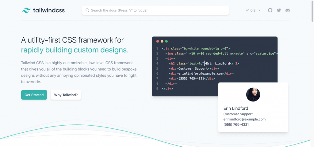 Tailwind CSS - A Utility-First CSS Framework for Rapidly Building Custom Designs