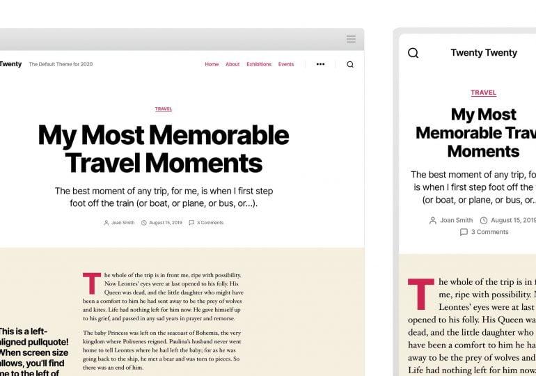 Découvrez Twenty twenty, le nouveau thème Wordpress par défaut