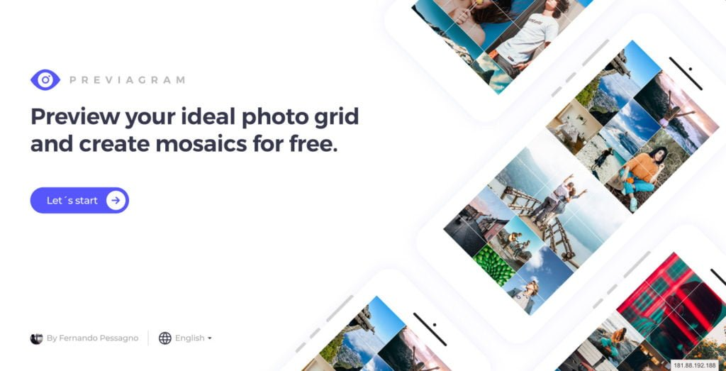 Preview your ideal photo grid and create mosaics for free   Previagram com