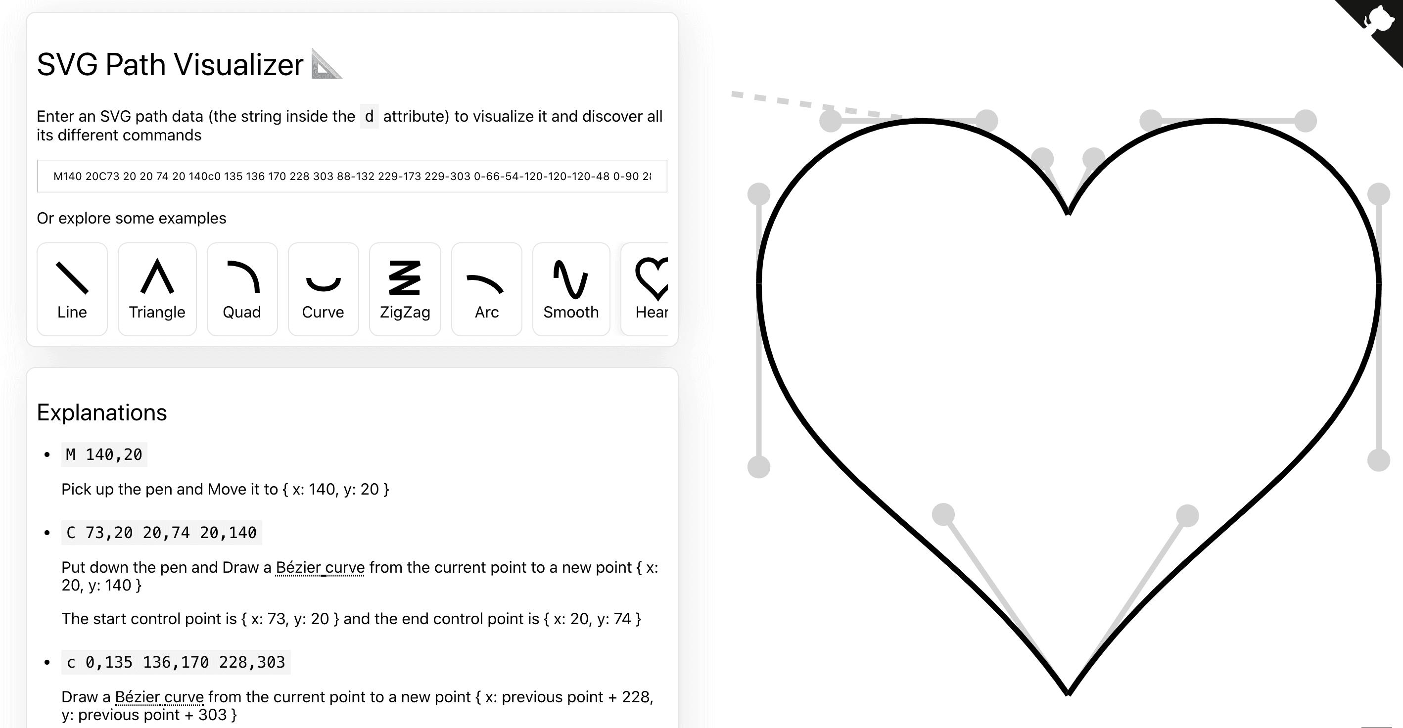 Visualiser le tracé d'un élément SVG