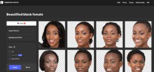 Des photos portraits uniques générés par IA dans vos designs