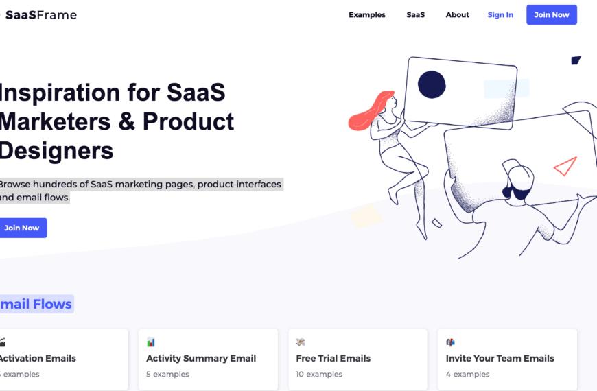 Trouver l'inspiration pour vos emails, produits et Marketing pour Saas