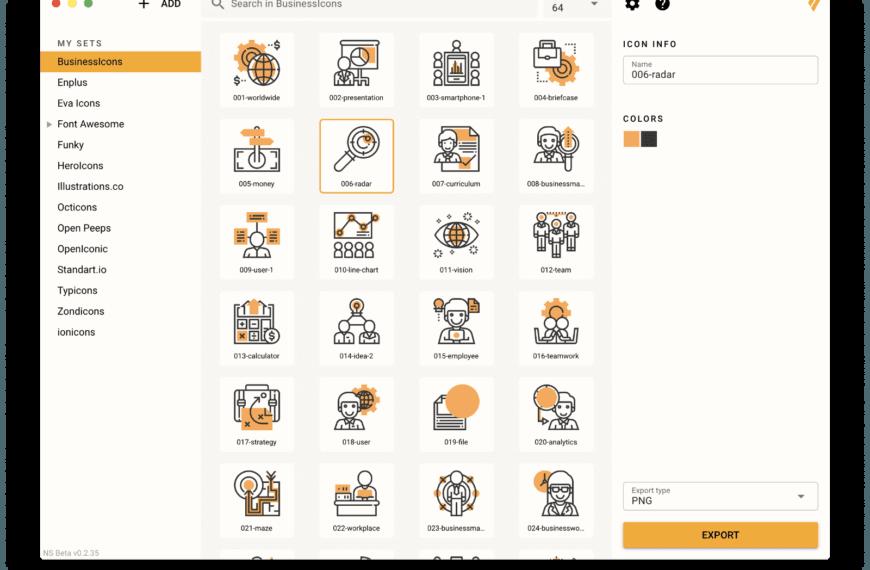 Personnaliser tout un set d'icônes aux couleurs de votre marque !